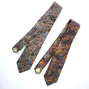3 silk vintage ties Bill Blass for Stern's